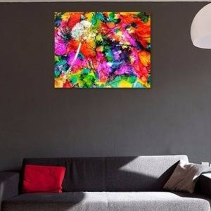 Dandelion Print on canvas 16x20 Wall Art Colorful